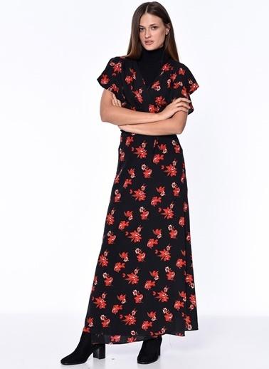 Çiçek Desenli Uzun Elbise-Dewberry